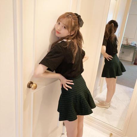 waist check mini skirt