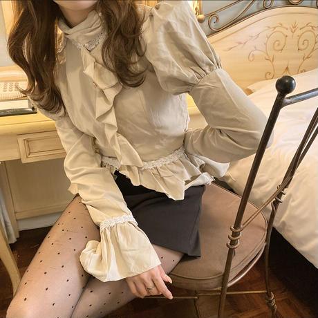 caffè latte puff blouse