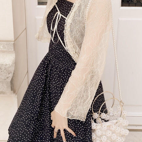 dot tiered cami onepiece