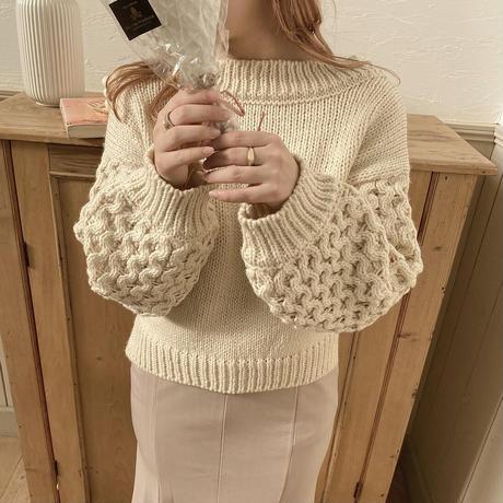 2way  volume sleeve knit