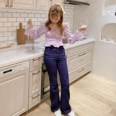 puff shirring blouse