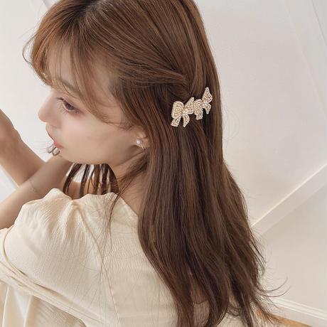 gold ribbon hair pin