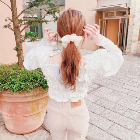 whipped cream blouse