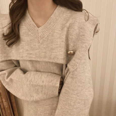 mélange knit tunic