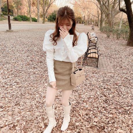 long cuffs lace blouse