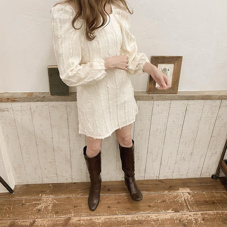 puff sleeve lace onepiece
