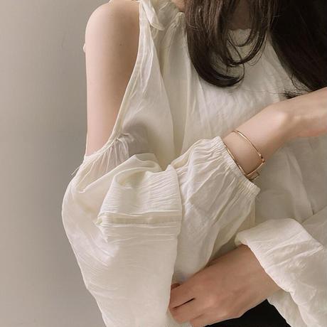 cream lady blouse