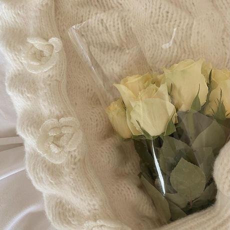 white rose cardigan