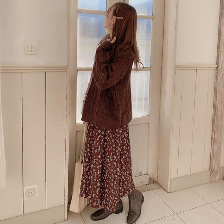 chocolate flower skirt
