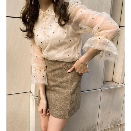 Daisy frill blouse