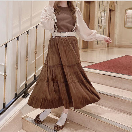 velor tiered skirt