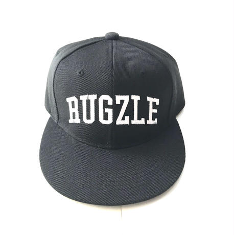 PUZZLE×RUGGED RUGZLE snap back ブラック×ホワイト