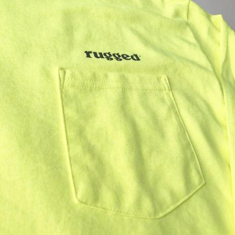 【ラス1】RUGGED rugged®︎ pocket L/S tee ライトイエロー XL