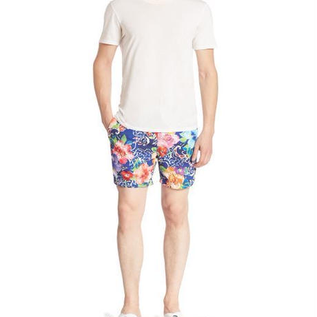 【ラス1】POLO RALPH LAUREN FLORAL SWIM shorts ブルー M