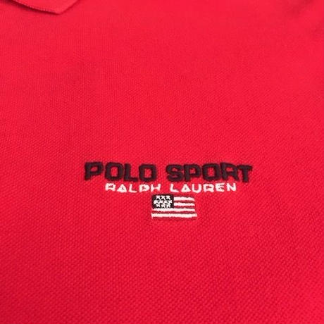 【USED】POLO SPORT polo shirt レッド L