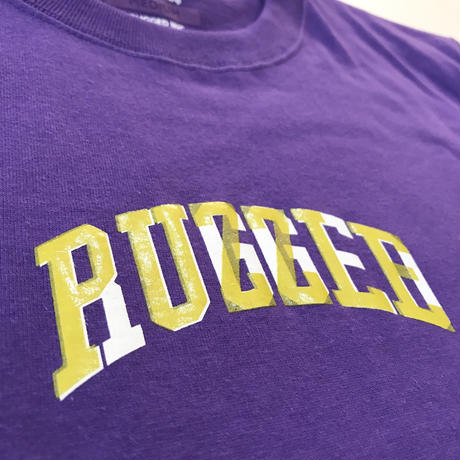 PUZZLE×RUGGED 6th ANNIVERSARY tee パープル