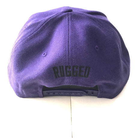 PUZZLE×RUGGED RUGZLE snap back パープル×ブラック