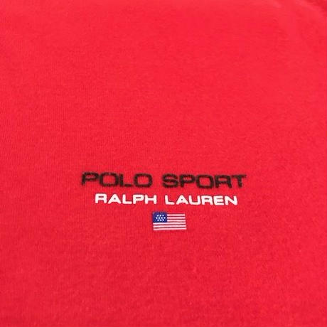 【USED】POLO SPORT polo shirt レッド LL