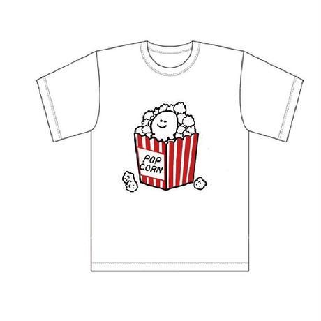 【erica】2018年ワンマンライブグッズ「えりちゃんがポップコーンになっちゃったよTシャツ」(白)