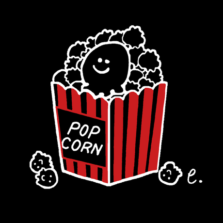 【erica】2018年ワンマンライブグッズ「えりちゃんがポップコーンになっちゃったよTシャツ」(黒)