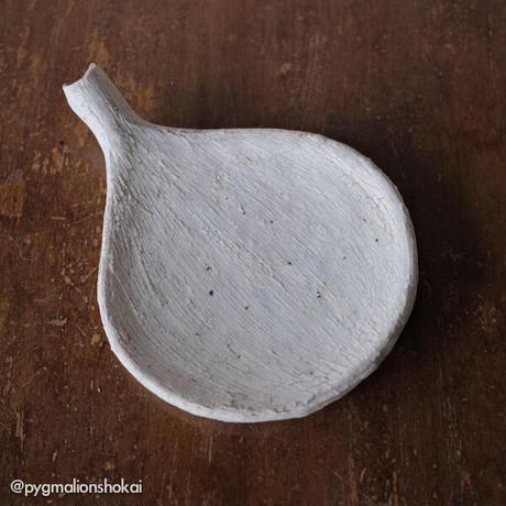 ミヤチヤスヨ 枝葉皿12cm