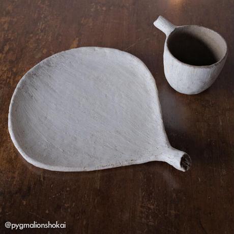 ミヤチヤスヨ 枝葉皿21cm