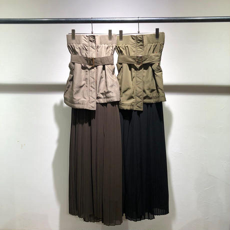 【Risley】different material  Layered Skirt(1740313)