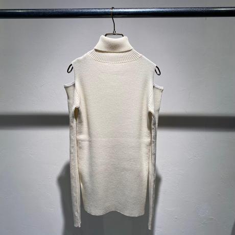【Risley】Cut Out Shoulder Turtle knit(1510164)