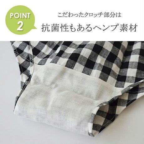 【大きめ・LLサイズ】カジュアルライン水玉クロッチUPショーツ