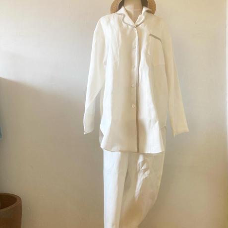 【初回消費税サービス】中厚ヘンプ前ボタンシャツ(ナイティ)