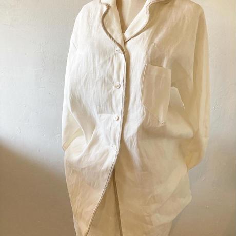 【予約・消費税サービス】中厚ヘンプ前ボタンシャツ(ナイティ)