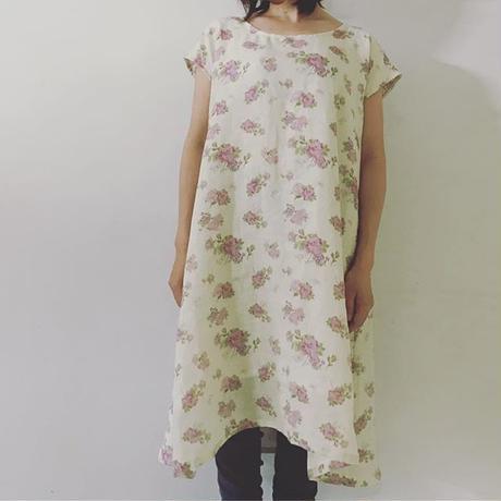 Rose&butterfly スレーブレスワンピース(裏地ヘンプ)