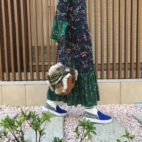 花柄シフォンワンピース