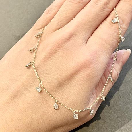 Resplend diamond chandelier necklace 2.25ct.