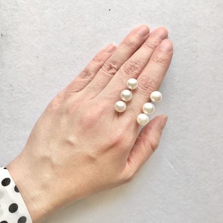 akoya 6Pearls floating snowball ring