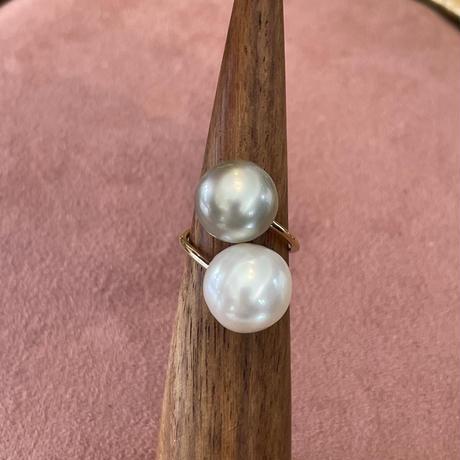 Big snowman Southsea pearl ring