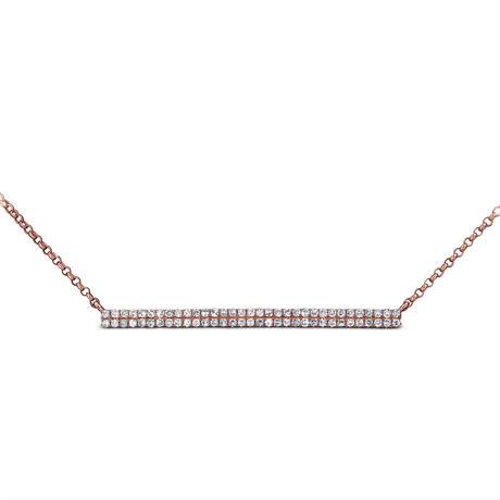 streamline diamond pawe minimum necklace K14PG