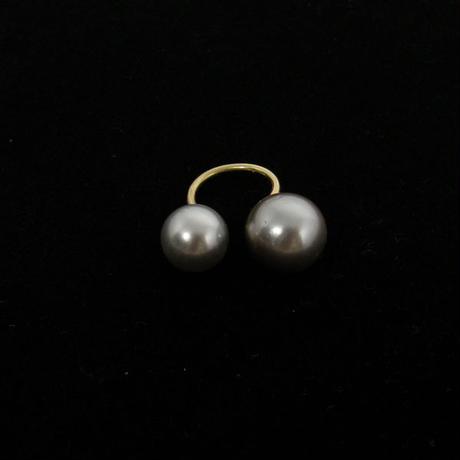 Twin Pearl Ring(LRG) - Southsea pearl