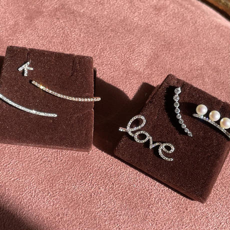 Icicles Diamond and pearl ear climber