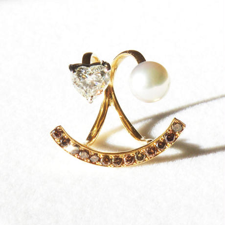 """W""besmile Ring w/Heart shaped diamond(1ct.)"