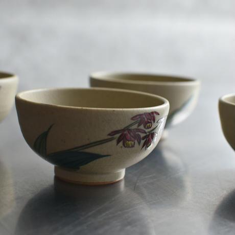 古道具部  花紋煎茶碗