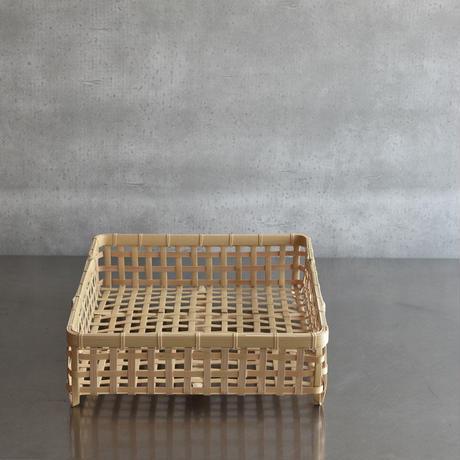 竹編みの四角い水切りかご 7月末頃再販予定