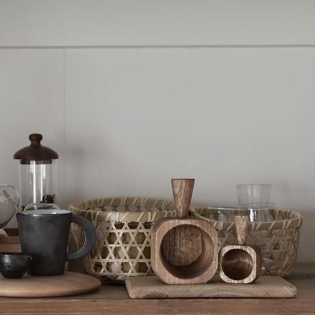 木彫りのおこめカップ 3月中旬再入荷予定