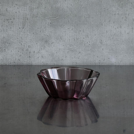 古道具部 プレスガラス小鉢(パープル)