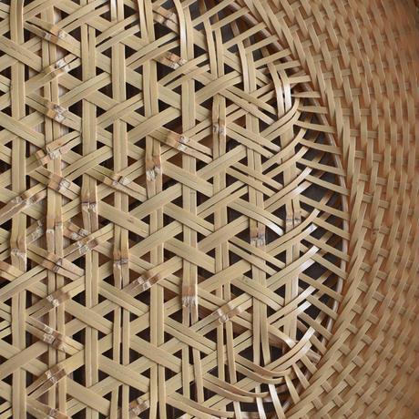 竹編みの本麻編み大皿