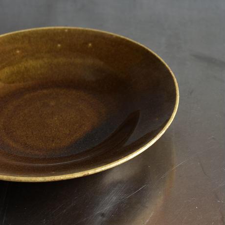 たくまポタリー 8寸 深皿 キャラメル
