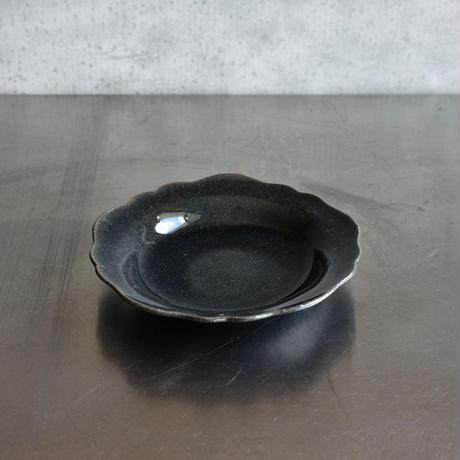 たくまポタリー 芙蓉 6寸皿 藍