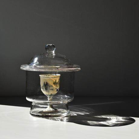古道具部 蓋付きガラス瓶