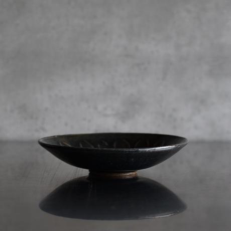 たくまポタリー 4.5寸深皿 花びら 藍