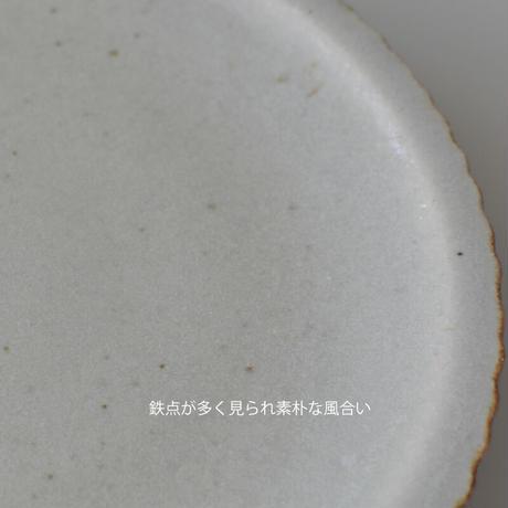 たくまポタリー 7寸 おかず皿 やわグレー